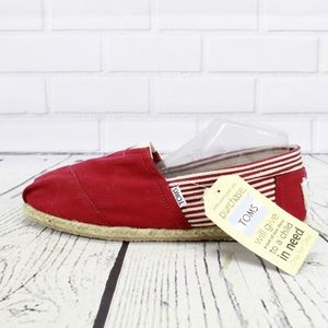 Toms Classic Rope Sole University Red Shoes 11.5